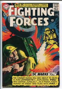 OUR FIGHTING FORCES #94 1965-DC-GREYTONE-GUNNER & SARGE-RUSS HEATH-fn+
