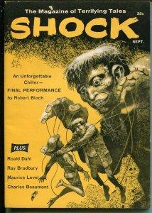 Shock 9/1960-Jack Davis horror cover-Ray Bradbury-Robert Bloch-Jack London-VF/NM