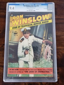 Don Winslow of the Navy 69 CGC 9.4 Crowley Pedigree Last Fawcett Issue old label