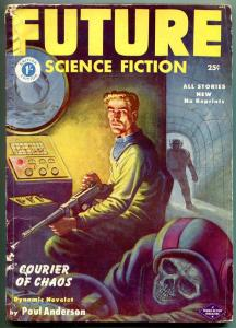 Future Science Fiction Pulp March 1953- Skull cover- British edition VG