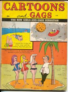 Cartoons and Gags4/1967-Marvel-jokes-flying saucer-Engleman-DeCarlo-VG