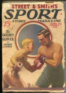 Sport Story 6/25/1932-Teg Murray boxing cover--Auto racing-baseball-tennis-ro...