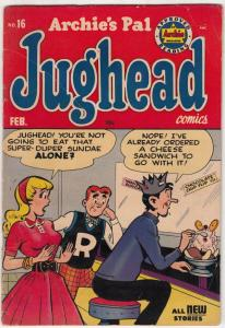 Jughead, Archie's Pal #16 (Feb-53) VG/FN+ Mid-Grade Archie, Betty, Veronica, ...