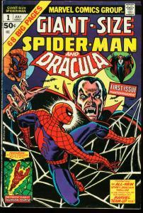 GIANT SIZE SPIDER-MAN #1-DRACULA-MARVEL FN
