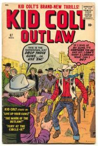 Kid Colt Outlaw #87 1959- Kirby-Jack Davis FN