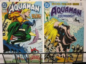 AQUAMAN 9-10  Eco-Wars SEA-DEVILS 2-part story!