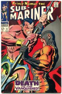 SUB-MARINER #6 1968-MARVEL COMIC-JOHN BUSCEMA-TIGER SHA VF/NM