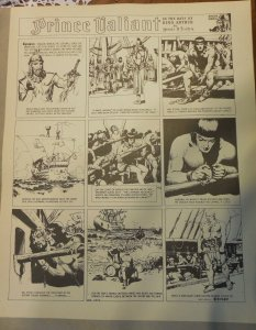 Prince Valiant by Hal Foster Syndicate Proof 1/19/1941  Size 16 x 20 inches