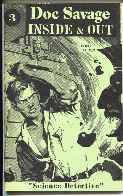 Doc Savage Inside & Out 3 6/1990-art reprints-Doc Savage Science Detective-NM