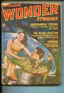 THRILLING WONDER STORIES 2/1952-SCI-FI PULP-JAMES BLISH-JACK VANCE-fr