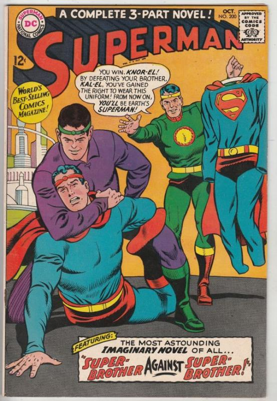 Superman #200 (Oct-67) NM- High-Grade Superman, Jimmy Olsen,Lois Lane, Lana L...