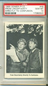 1965 ** FLEER ** Gomer Pyle #48 --- Popular 1960's TV Series --- PSA 10 GEM MINT