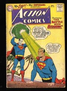 Action Comics #254 FA/GD 1.5 1st Meeting of Bizarro and Superman!