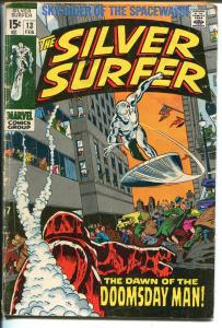 Silver Surfer #13 1970-Marvel-Doomsday Man-American flag-John Bucsema art-G/VG