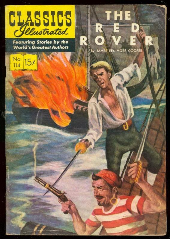 Classics Illustrated #114 HRN 115-The Red Rover- James Fenimore Cooper vg/f