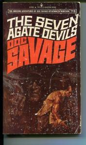 DOC SAVAGE-THE SEVEN AGATE DEVILS-#73-ROBESON-G-FRED PFEIFFER COVER-1ST ED G