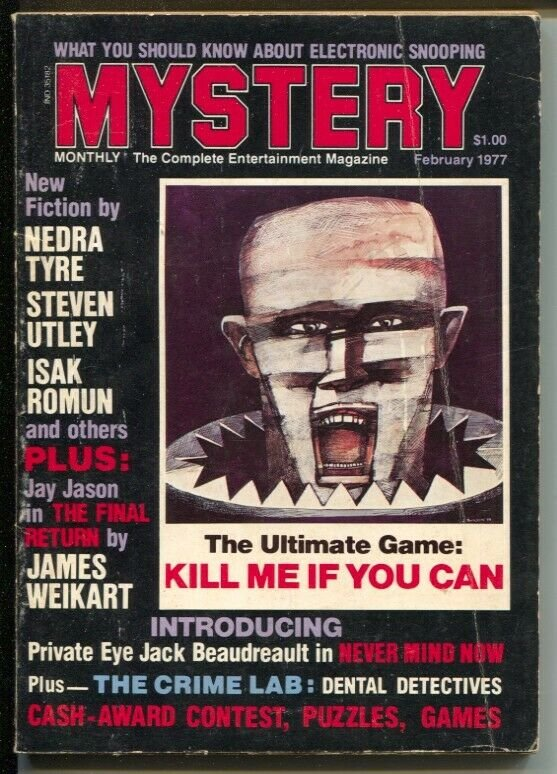Mystery Monthly #9 2/1977-1st appearance of Private Eye Jack-hardboiled pulp-VG