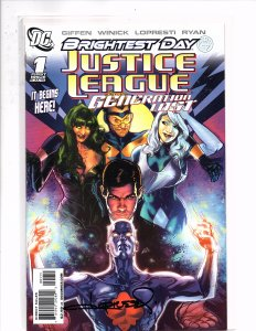 Justice League Generation Lost #1 Brightest Day Signed by Aaron Lopresti w/COA