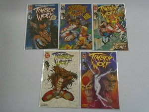 Timber Wolf set #1-5 avg 8.0 VF #1 is 6.0 FN (1992)