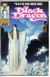 BLACK DRAGON #5 1985-SIGNED-CHRIS CLAREMONT-vf