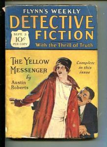 FLYNN'S WEEKLY DETECTIVE FICTION-SEPT 3 1927-MYSTERY-AUSTIN ROBERTS-fr/good