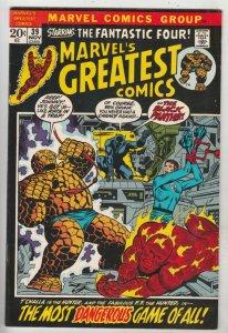 Marvel's Greatest Comics #39 (Nov-72) VF+ High-Grade Fantastic Four, Mr. Fant...