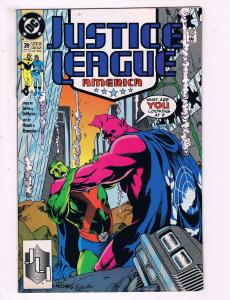 Justice League America #39 VF DC Comics Comic Book Giffen 1990 DE14