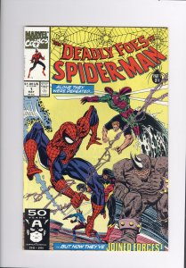 Deadly Foes of Spider-Man # 1  NM  Super High Grade (1991)