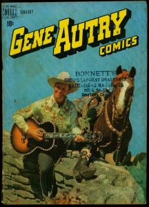 Gene Autry Comics #23 1949- Dell Western Photo cover VG