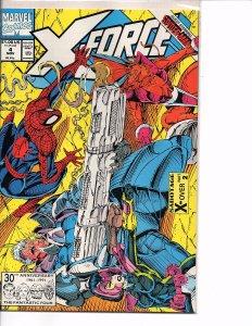 Marvel Comics X-Force Vol. 1 #4 Spider-man Sideways Issue Rob Liefeld