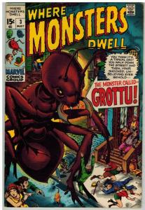 WHERE MONSTERS DWELL 3 FN+ May 1970