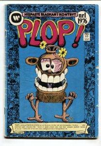 Plop! #1 1976- Swedish edition-DC Weird Humor- Basil Wolverton RARE