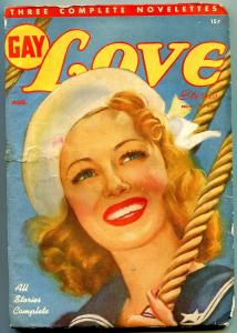 Gay Love Stories Pulp August 1947- Sailor girl cover VG