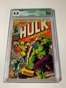 Incredible Hulk 181 Cgc 4.0 Q Qualified 1st Wolverine No Mvs Story Not Affected