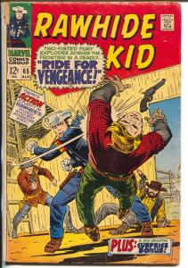 Rawhide Kid #65 1968-Marvel-Larry Leiber-western action-G=
