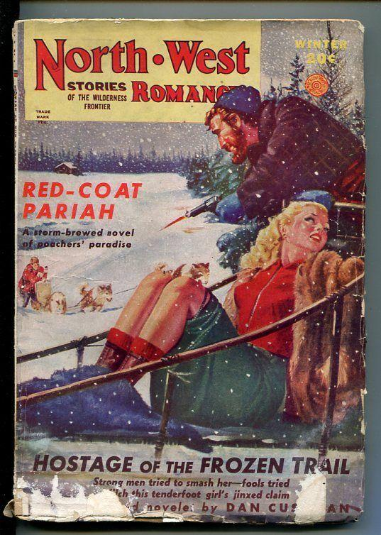 NORTHWEST ROMANCES-WINTER1946- PULP FICTION-SPICY  BOUND BABE COVER-good minus