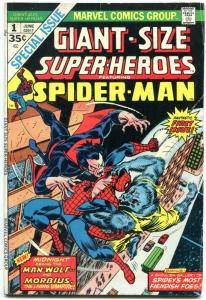 GIANT-SIZE SUPER-HEROES FEATURING SPIDER-MAN #1-comic book MORBIUS vg