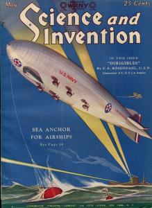 SCIENCE AND INVENTION 05/1928-GERNSBACK-DIRIGIBLE-A. MERRITT-RARE PULP-fn/vf