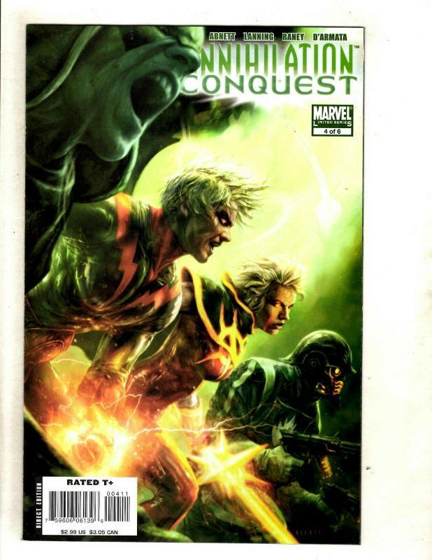 Lot Of 7 Annihilation Conquest Marvel Comic Books # 1 2 3 4 5 6 + Prologue SM8