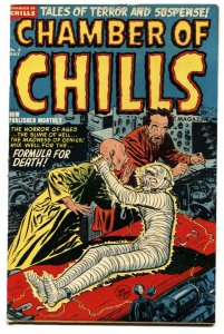 CHAMBER OF CHILLS #8 Pre-Code horror-Mummy cover-Decapitation-1952