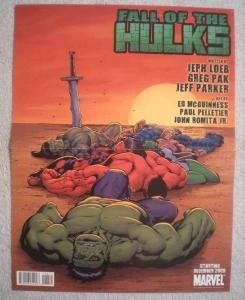 FALL OF THE HULKS Promo Poster, 10x13, 2009, Unused, more Promos in store