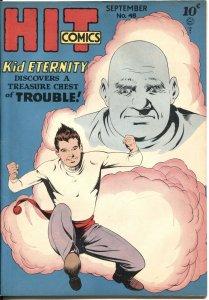 HIT COMICS #48-1947-KID ETERNITY-SPICY BOB POWELL ART-DENTIST CHAIR HORROR-RARE