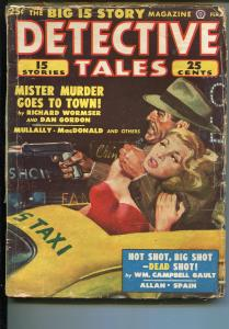 DETECTIVE TALES 02/1949-POPULAR PUBS-STRANGULATION-CRIME-PULP-MACDONALD-good/vg