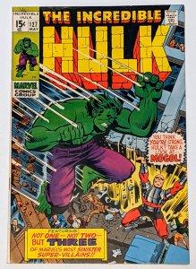 The Incredible Hulk #127 (May 1970, Marvel) FN+ 6.5 Mole Man, Mogol & Tyrannus