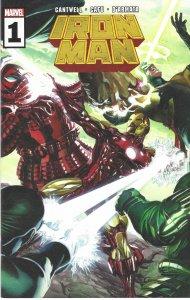 Iron Man #1 (11-2020) - w/ Hellcat - vs Halcyon, Unicorn, Terrax the Tamer