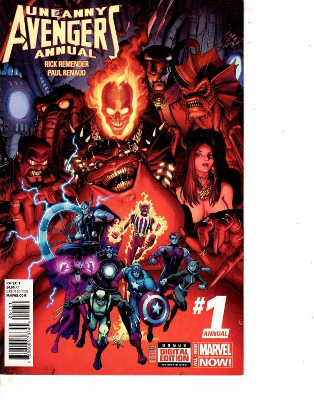 Lot Of 2 Comic Books Marvel Uncanny Avengers Annual #1 and #2 ON10