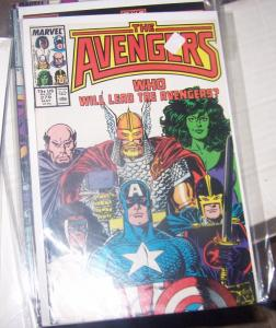 Avengers # 279  (may 1985, Marvel) she hulk captain marvel black knight thor