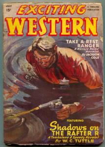 Exciting Western Pulp July 1947- Tombstone & Speedy-WC Tuttle