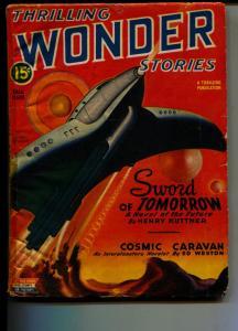 Thrilling Wonder Stories-Pulp-Fall/1945-Ed Weston-Henry Kuttner