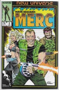 Mark Hazzard  : Merc   # 5 FN (New Universe) Murray/Beachum